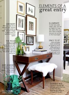 Elements of a Great Entryway: everything you need to know to make a stylish, inexpensive, and practical entry!  Home Made by Carmona | Better Homes and Gardens Live Better | Sponsored