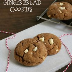 12 Days of Gluten Free Cookies - White Chocolate Gingerbread Cookies.  Compliments of Michelle Palin, at My Gluten-Free Kitchen.  Michelle says: With all the flavors & spices of Christmas, these cookies are a great choice for your holiday baking. This is a soft, but sturdy, cookie that is perfect to have in your cookie jar for all your holiday guests! Dough can be made ahead and kept in the refrigerator for when company arrives!