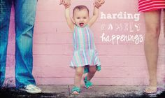 family blog header - was my favorite picture taken at Reegan's 1st birthday party by Flecky Fotography!