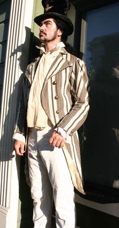 Steampunk summerwear. Like the linen.