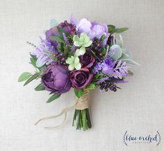 Wedding Flowers Purple Bouquet Wedding Bouquet Bridal Shape