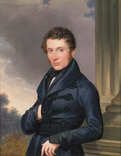 Leopold Fertbauer (1802-1875) — Portrait of a Gentleman, c.1830 (989×1280)