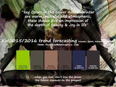 AW2015/2016 trend forecasting for Women, Sport, Intimate Apparel - Key Colors in this colder Autumn Winter are warm, peaceful and atmospheri...