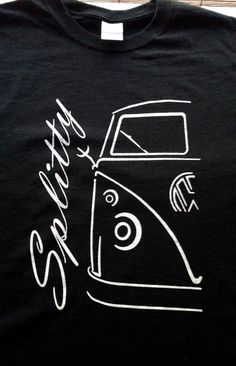 VW Volkswagen split window bus TShirt by JeffsScreenPrints on Etsy