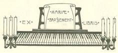 Ex-Libris BROSSEMENT (Marie)-