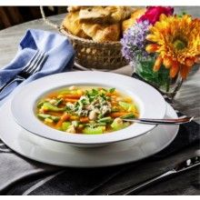 """WILMAX SOUP PLATE 8"""" WL-991016"""