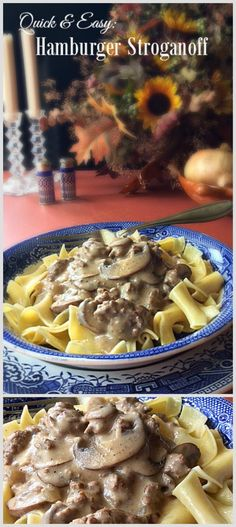 HAMBURGER STROGANOFF is quick and easy to make. A comfort food the family will…
