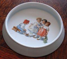 antique Royal Bayreuth child's feeding dish