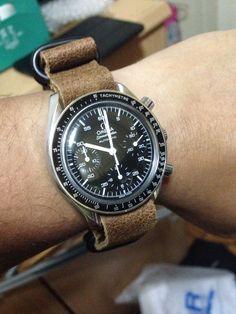 Omega Speedmaster Reduced Leather