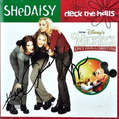 Shedaisy Deck The Halls Signed Christmas Promo Cd #Disney Mickey Mouse 2trk nMint #Christmas
