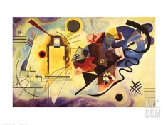 Yellow, Red and Blue, c.1925 Print by Wassily Kandinsky at Art.com
