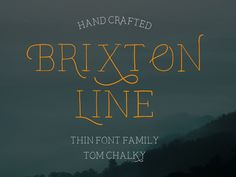 Brixton Line and Brixton Line Swash were both fun experiments that turned out brilliantly and possibly a direction to explore when designing more fonts in the future. I have decidedto use the 'pay...