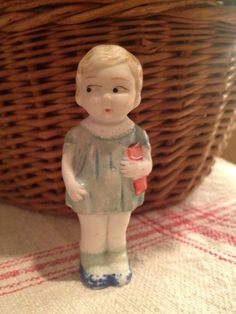 Vintage Bisque Frozen Charlotte Penny Doll
