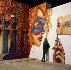 Wonderful Street Art work by Libre Hem in Tijuana, Mexico