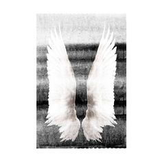 Marmont Hill Wings on My Back Print on Canvas 45 x 30 Home Decor ($217) ❤ liked on Polyvore featuring home, home decor, wall art, canvas art, wall decor, beach home decor, beach home accessories, white home decor, white wall art and beach wall art