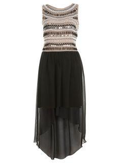 Beaded Bodice Drop Back Dress - View All - Dress Shop - Miss Selfridge US