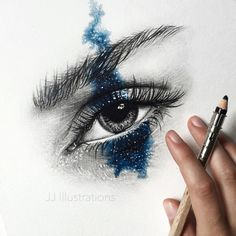 Here is the finished eye drawing I did some weeks ago.  (original available in the shop - link in bio)
