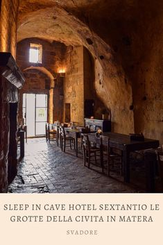 Sleep in Cave Hotel Sextantio Le Grotte della Civita in Matera, Basilicata. The term luxury is redefined at the cave hotel Sextantio Le Grotte della Civita located in the Sassi area of Matera. This albergo diffuso, or dispersed hotel, brings to life the history, atmosphere, life, and soul of i sassi recognized as a UNESCO World Heritage Site. Plan the rest of your trip through Italy and Puglia on travel blog svadore. #puglia #matera #basilicata #roadtrip #italy #italia #svadore #unesco… Travel Pictures, Cool Pictures, Cave Hotel, European Destination, Travel Companies, Family Adventure, Heritage Site, Travel Around The World, Where To Go
