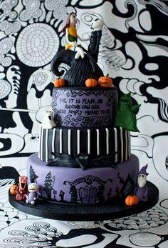 The Nightmare Before Christmas Wedding Cake Nightmare Before Christmas Wedding, Christmas Wedding Cakes, Heavens, Dream Wedding, Desserts, Food, Deserts, Sky, Heaven
