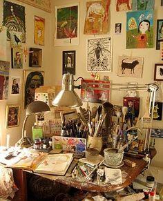 Lynn Hoppe's studio
