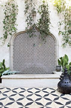 Why just tile one element? We love the mixing of patterns used here, let Tile Collection make this for you!