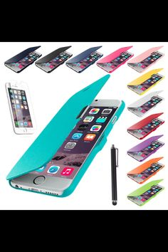 Magnetic flip leather hard skin pouch wallet case for Apple 6. The item number is 171511830657!