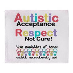 Autistic Acceptance Throw #Blanket #Autism #ASD #Aspergers #Neurodiversity #AutisticAcceptance
