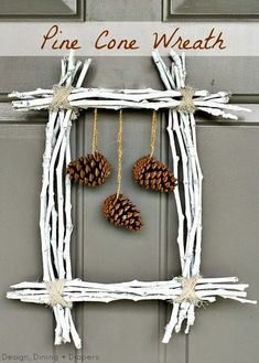 The best part about Christmas decorations are that we can use natural things for decoration. Herer are Pine cone crafts for Christmas that are really cute. Pine Cone Christmas Tree, How To Make Christmas Tree, Christmas Tree Ornaments, Christmas Crafts, Christmas Decorations, Cowboy Christmas, Country Christmas, Christmas Christmas, Fall Crafts