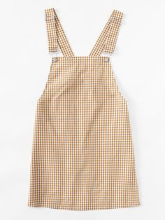 bbbf867009 Detachable Strap Gingham Pinafore DressFor Women-romwe Fashion Angels