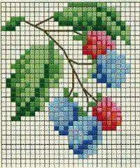 Fruit cross stitch.