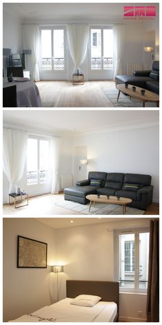 #Contemporary #furnished 3-bedroom #Paris #rental in the 1st arrondissement.