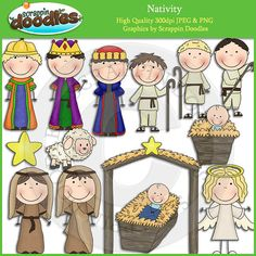 Nativity Clip Art Download by ScrappinDoodles on Etsy, $3.99