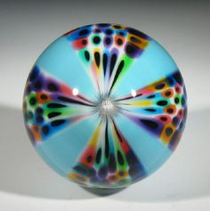 """Hot House Glass experimental paneled marble 2.09"""" 53 mm #140"""