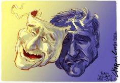 This artwork illustrates how some people handle depression. The life of Robin Williams and his struggle with depression is a great example of the importance of compassion and awareness. Depression Art, Robin Williams, Best Funny Pictures, Lion Sculpture, Fan Art, Statue, Drawings, Illustration, Artwork