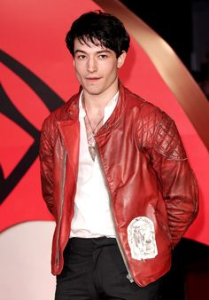 Ezra Miller attends the European Premiere of 'Batman V Superman: Dawn Of Justice' at Odeon Leicester Square on March 22, 2016 in London, England