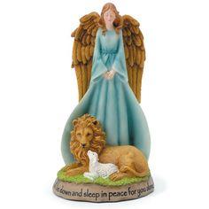 Peace On Earth, Angel, Lion and Lamb figure.