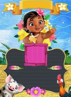 Alondra Isabella is Turning 1 Moana Birthday Decorations, Moana Theme Birthday, Moana Themed Party, 2nd Birthday Parties, Moana Party Invitations, Birthday Invitations, Festa Moana Baby, Baby Party, Party Themes