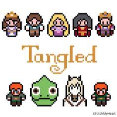 Tangled Cross Stitch Pattern (PDF) INSTANT DOWNLOAD
