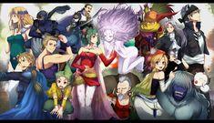 Final Fantasy VI Celes, Shadow, Cyan, Gogo, Setzer, Locke Edgar, Sabin, Terra, Relm, Umaro, Mog, Gau, Strago