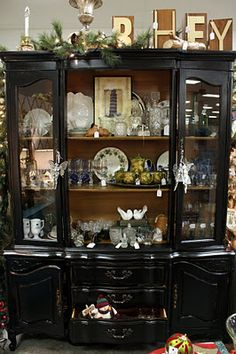 black china cabinet.....just like the one I have!!