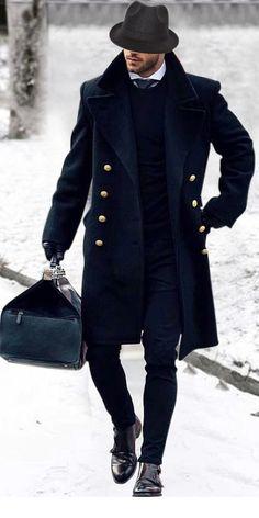 Hajotrawa Mens Stitching Stylish Hooded Overcoat Jacket Cotton-Padded Parkas Coat