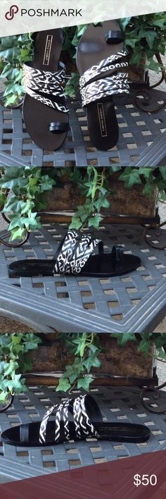 """💥💥 Sale! 💥💥 Cynthia Vincent """"Fancie"""" Sandals Brand New in Original Box   Original Price $175   All leather upper and sole   Toe loop   Multi-strap vamp   Easy slide on   Approx 0.25"""" heel  medium width  true to size fit  ❌❌ I do not trade ❌❌ Cynthia Vincent Shoes Sandals"""