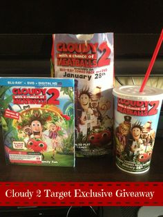 Cloudy with a Chance of Meatballs Target Exclusive #Giveaway - When you purchase the BluRay DVD at Target, you get a coupon for a free Medium drink and Popcorn at Target Cafe
