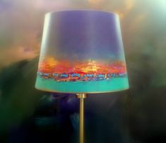 Decorate Lampshade, Lampshades, Painted Lampshade, Painting Lamp Shades, Painting Lamps, I Love Lamp, Lamp Light, Home Crafts, Living Room Decor