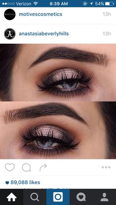 Simple brown halo eye with a pink toned center