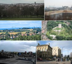 scenery montage -I think the pictures chosen for this montage are very bleak, dull and boring as they have no colour . South Yorkshire, Yorkshire England, Stockton On Tees, South East England, Sheffield City, Northern England, Barnsley, Chichester, Middlesbrough