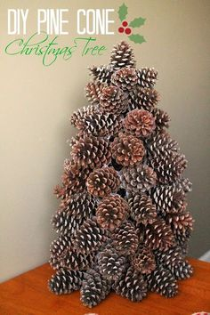 40+ Creative Pinecone Crafts for Your Holiday Decorations --> Pinecone Christmas Tree #craft #decor #Christmas #pinecone