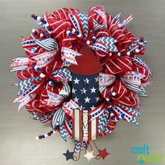 Deco Mesh Wreath Three Ways | Craft Outlet / inspiration