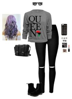 """""""Queen"""" by hanakdudley ❤ liked on Polyvore featuring Dr. Martens, J.Crew, Topshop, Waterford and MAC Cosmetics"""