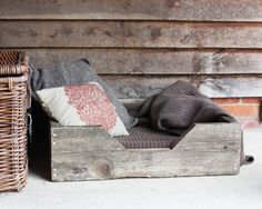 Rustic Pet Bed by DogandBoneDesign on Etsy